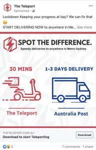 The Teleport Spot the difference creative